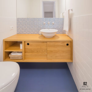 2018 – Bathroom in Apartment – Milano – Arch. Francesca Ambrosi, 02ARCH –  tiles: NOVECENTO