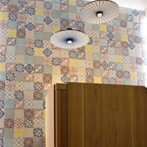 2017 – Made a Mano Binova Durini Opening – NOVECENTO tiles + ZORA MAKE' lamps