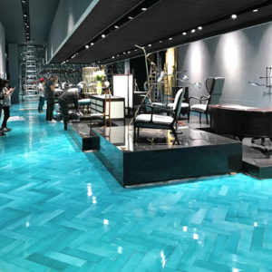 CRISTALLI HERRINGBONE TILES FOR CECCOTTI COLLECTION - 2018 SALONE DEL MOBILE - STUDIO CALVI BRAMBILLA