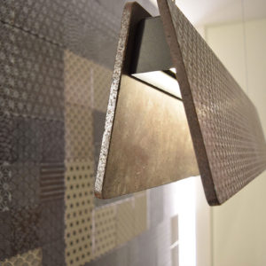 2017 – BinovaDurini Shoroom – Milan – NOVECENTO + KOMON NATURA tiles + IPAZIA lamps